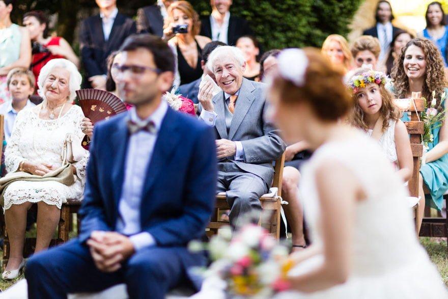 Ceremonia civil durante una boda en la Abadía do Pelouro Axeito