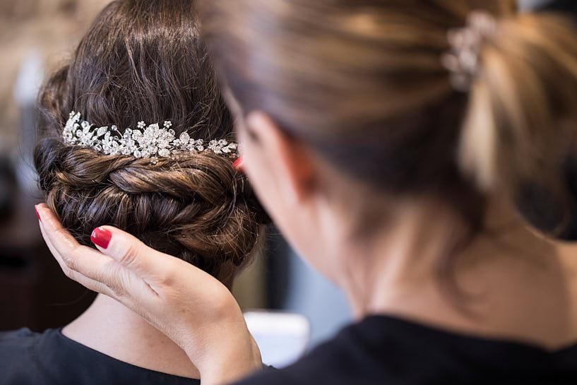 Recogido de novia en la peluquería Fátima Albo