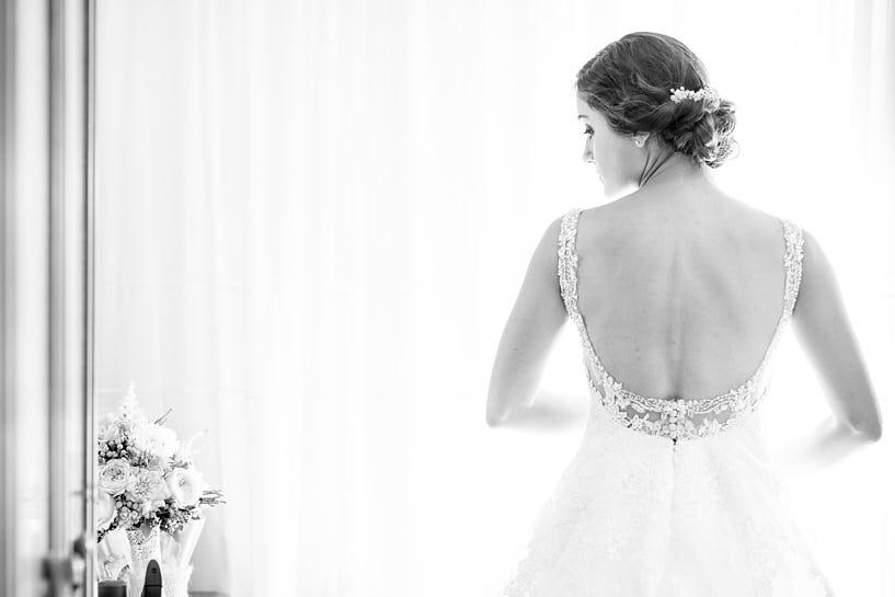 Espalda de un vestido de novia de Pronovias