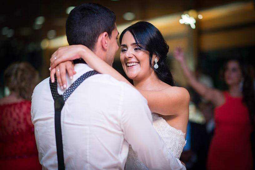 Apertura de baile de novios en una boda el Pazo de Santa Cruz de Mondoi