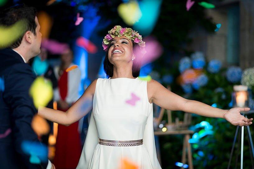 Novia en una boda en el Pazo Baión