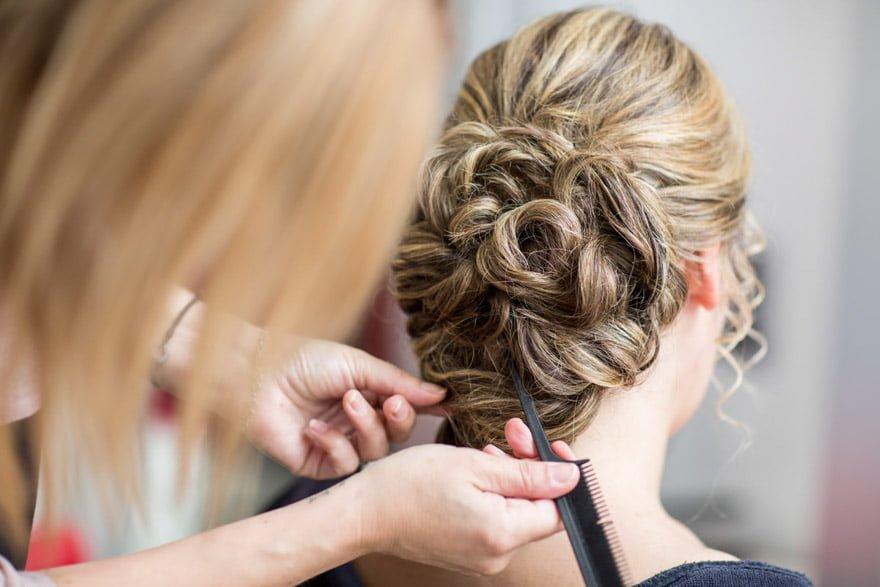 Peinado de novia en Peluquería Imaxen de Ponteceso