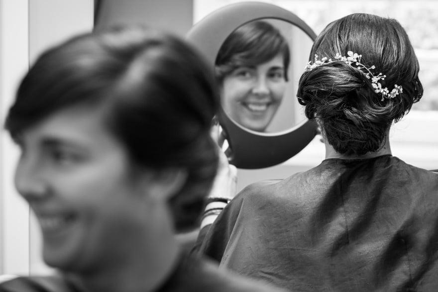 Peluquería Aqua de A Coruña Peinado de novia el dia de su boda
