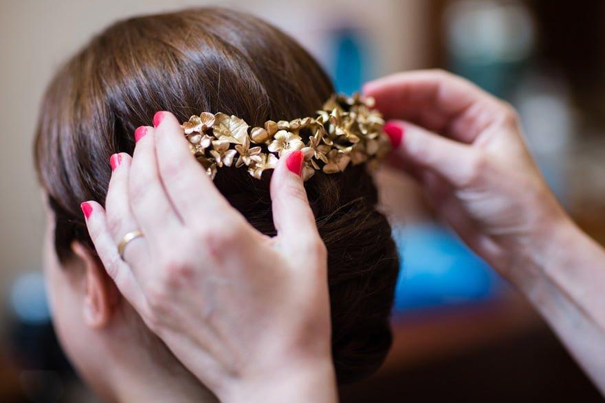 Tocados Le Touquet colocado por la peluquería Rosana de Burela