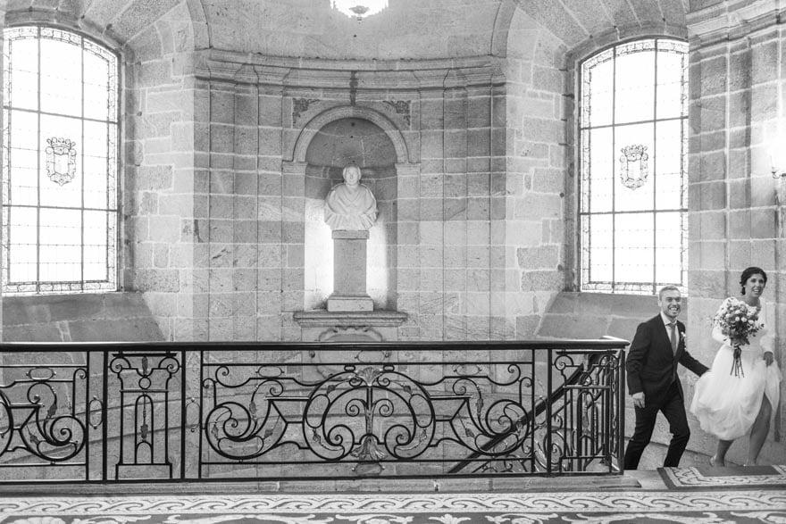 Novia en una boda en el Ayuntamiento de Santiago de Compostela