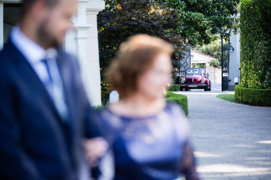 La novia se desplazó hasta la Quinta Canaima en un Volkswagen Cabrio de Autoenlace