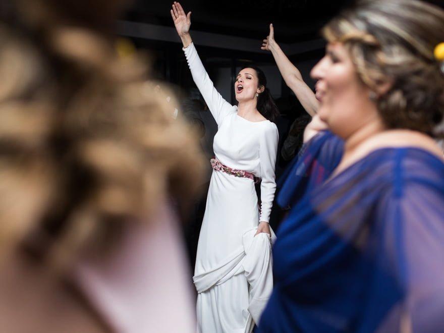 Baile en Couso Galán durante una boda