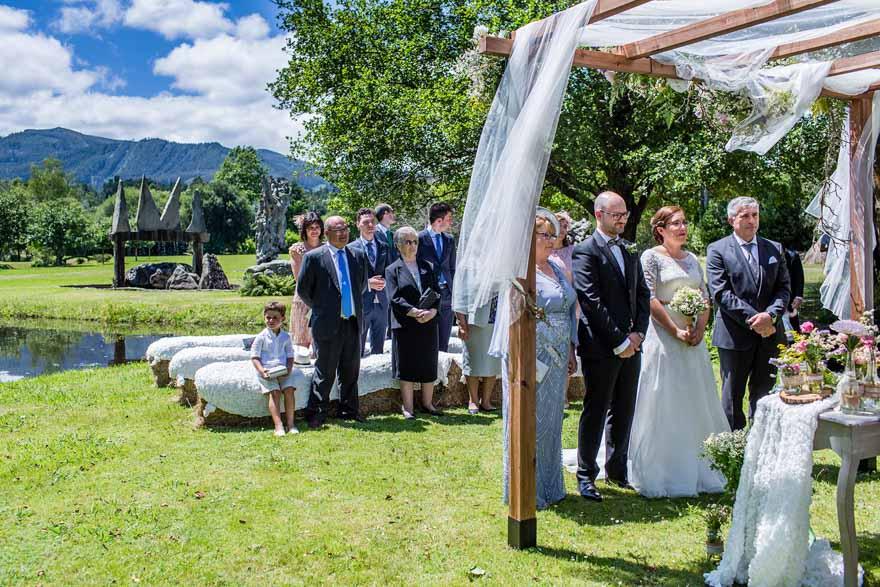Ceremonia vicil de boda en la finca Galea de Alfoz