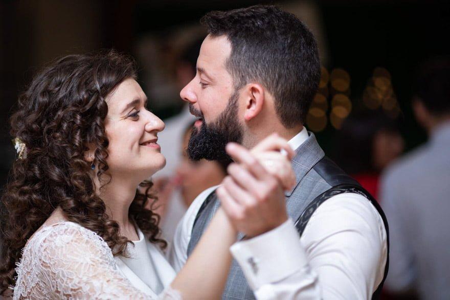 Bailede novios en el Pazo de Adrán con música de los Dj de La Gramola de Santiago de Compostela