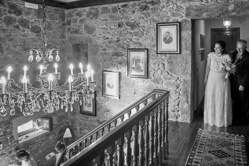 Interior del Pazo Montesclaros Novia