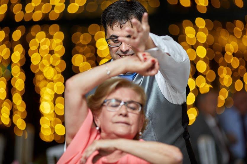 Baile durante una boda en el Pazo Montesclaros