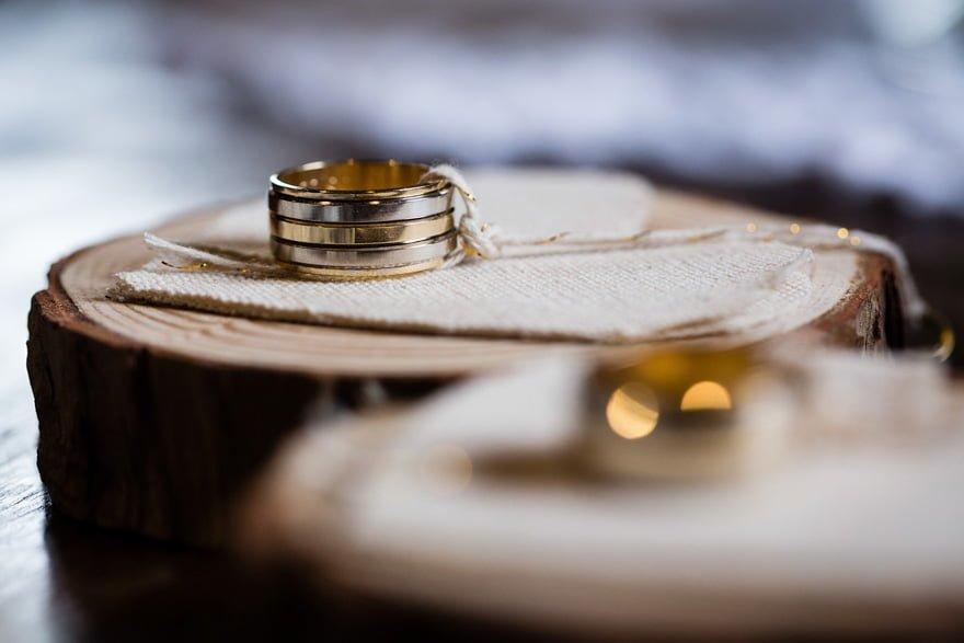 Alianzas de boda macro