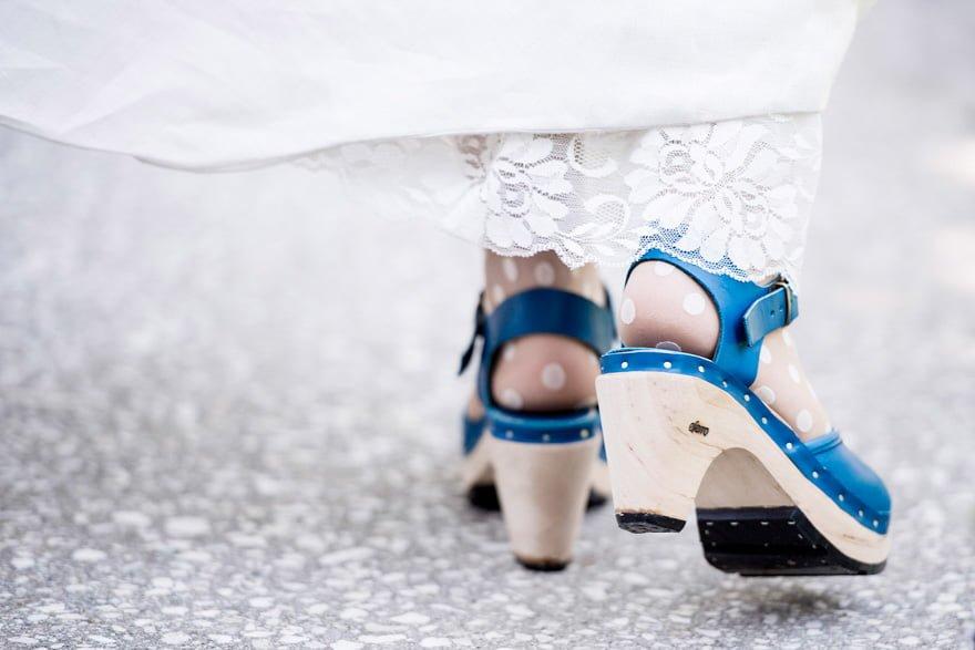 zuecos de boda para novia de Eferro