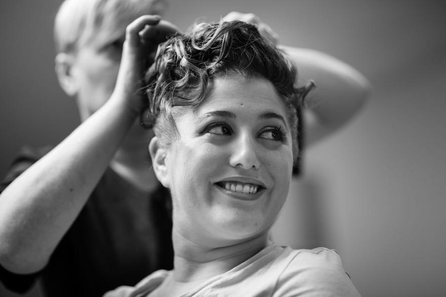 Peinado de novia el día de su boda en la peluquería Alba da Estrada