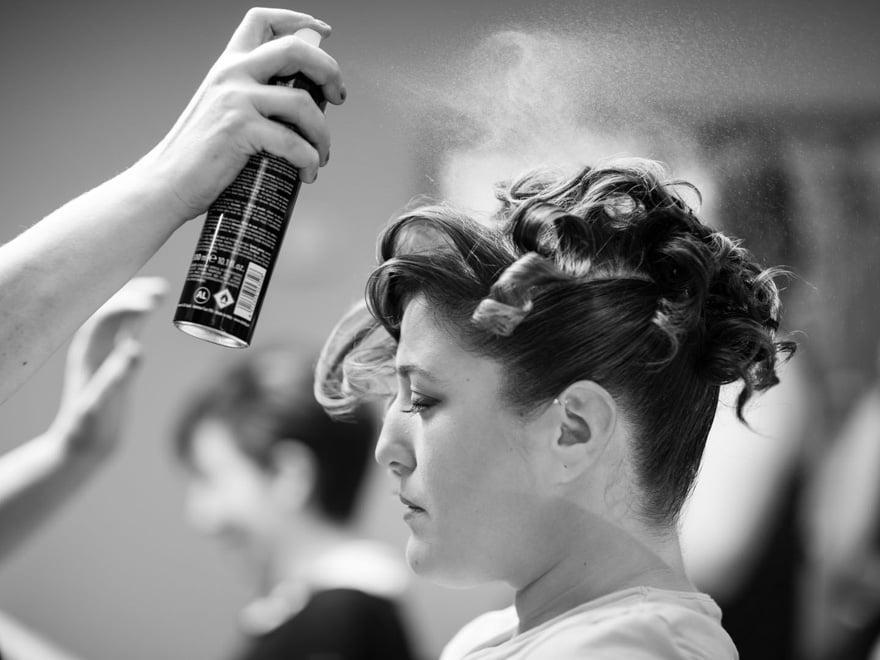 Peinado de novia en la peluquería Alba de A estrada