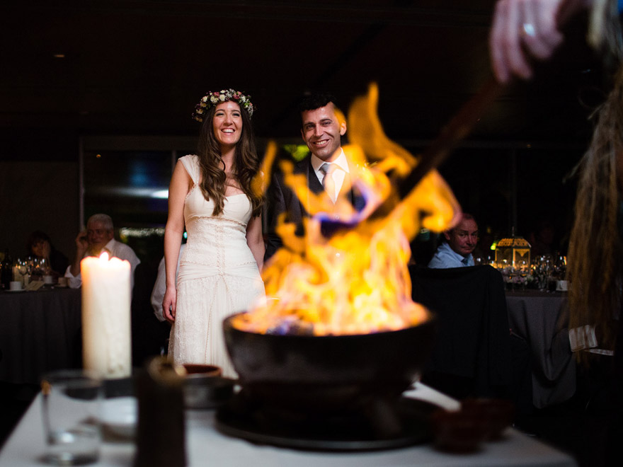 Queimada durante una boda en el Pazo de Cela